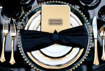 Wedding/Party: Gatsby/1920's / Party planning ideas that include themes and color combinations of  elegant black, luxurious gold, and other precious metals along with sparkling diamonds, plumes and bubbling champagne towers to complete an elegant roaring 20's themed Great Gatsby party.