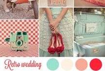 Wedding/Party: Vintage 50's / From fun and kitschy to sophisticated and elegant, ideas to create a vintage 50's-inspired themed party including color combinations of bubble gum pink and the ever popular cherry and robin's egg blue.