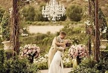 Wedding/Party: Shabby Chic Garden / Inspired by the sweet romance of a French provincial countryside, shabby chic style is comprised of palettes of soft pinks, crystals, pearls and weathered antique finishes that perfectly compliment an outdoor garden theme.