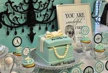 Wedding/Party: Breakfast at Tiffany's / Party inspiration for a classy Tiffany blue party including favorite color combinations featuring black & white and/or chocolate.