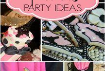 Wedding/Party: Paris / J'adore la vie en rose et noir! Classic pink and Eiffel Tower black combine to create an elegant Parisian themed party.