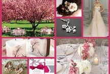 """Wedding/Party: Cherry Blossom/Sakura / Japanese for cherry blossom, here you will find party inspiration for hosting a dreamy spring """"sakura"""" event. Perfect for a bicultural wedding, this theme includes Japanese elements, and soft pinks including popular color combinations of mint and chocolate."""