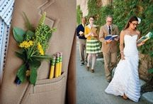 Wedding/Party: Library Love / Party inspiration for a library themed event for true book lovers featuring books as décor incorporated into everything from tablescapes to floral arrangements with receptions held in unique and often historic libraries as venues for an added twist of quirky vintage appeal.