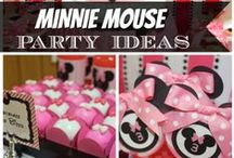 Kid's Party: Minnie Mouse / Party planning inspiration for a Minnie Mouse themed party including, décor, favors, games and food ideas.