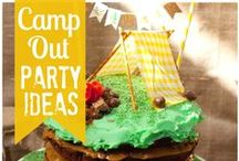 Kid's Party: Picnic/Camping / Party planning inspiration for a picnic or camping themed party including, décor, favors, games and food ideas.