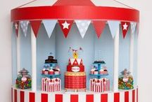 Kid's Party: Circus & Carnival / Party planning inspiration for a circus and carnival themed party including décor, favors, games and food ideas.