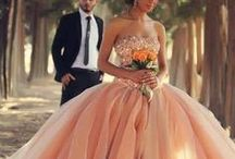"""Colorful Bride / """"It doesn't have to be white, it just has to be right!"""" Gorgeous colored gowns and color trimmed wedding gowns for themed weddings or for the unique and modern bride."""