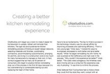 The CliqStudios Story: Creating a Better Kitchen Remodeling Experience / by CliqStudios Cabinets