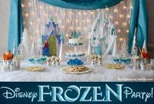 Kid's Party: Frozen / A theme so awesome, it deserved its own princess party board! Party planning inspiration for a winter wonderland celebration perfect for a Disney Frozen themed party including, décor, favors, games and food ideas.