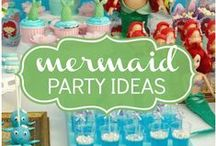 Kid's Party: Mermaid/Under The Sea / A theme so awesome it deserves its own party board! Party planning inspiration for an under the sea party, including Disney's The Little Mermaid themed, décor, favors, games and food ideas.