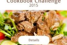 Cookbook Challenge / Are you like me and have a ton of cookbooks? My husband challenged me to cook one thing out of a different book until the remainder of 2015. Starting today that is 155 days of using a new recipe from my many cookbooks! I'm on it!