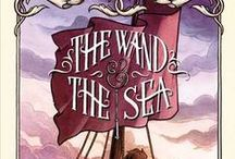THE WAND & THE SEA / The second book in THE KEY & THE FLAME series has Holly and the boys ally with a dubious pirate captain to rescue the Adepts of Anglielle. Pub by Margaret K. McElderry / Simon & Schuster, June 23, 2015
