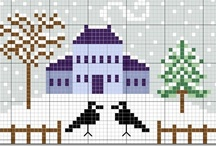 Cross stitch - Winter and Christmas