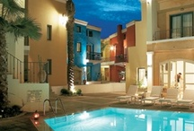 Plaza Spa Apartments, Rethymno-Crete / On the north coast of Crete,in the eastern part of the unique town of Rethymnon nestles Plaza Spa Apartments.On the beachfront,with spectacular sea views, this luxury hotel is ideal for guests seeking the best of all worlds-luxurious accommodation with selfcatering facilities combined with the resorts' comforts just a stone's throw away from the vivid city's nightlife.