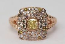 Champagne Diamonds / Ranging from a light Champagne gold to a rich brown Cognac, brown diamonds are delicious to wear!