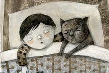 Cat in a bed