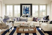 Coastal Decor Inspirations / Coastal,  Beach Cottage and Hamptons style rooms for inspiring your home decorating.