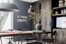 Industrial Inspiration / Industrial chic style to inspire your home decorating and design.