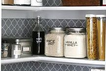 Pantry Inspirations / Organised pantry space to inspire your home decorating. Food storage ideas. Butler pantry inspiration.