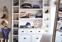 Closet Inspirations / Closet, cupboard and walk in robe space inspiration for your home decorating. Organised spaces. Shoe closet ideas. Design your space.