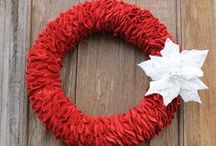 Christmas Wreaths / Christmas and the holidays are for celebrating family and friends! Find Christmas wreaths to decorate your home or to give as gifts!http://bit.ly/christmaswreathideas
