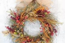 Thanksgiving Wreaths / Thanksgiving welcomes fall colors along with family and friends. Search here for holiday wreaths we love to display throughout the Thanksgiving season. http://bit.ly/thanksgivingwreaths