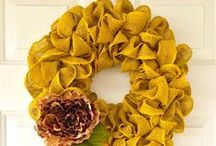 Spring Wreaths / Welcome in the beautiful colors of spring after a cold winter! Look at these spring wreath ideas with texture & pretty spring touches. http://bit.ly/springwreaths