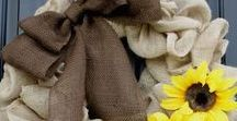 Fall Wreaths / Love the changing colors of the autumn and fall season? We do too! Decorate your home with a fall wreath and get inspired for the cooler season. http://bit.ly/autumnwreaths