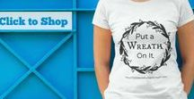 Wreath T-shirts! / Love to make crafts and love wreath ideas? HowToMakeABurlapWreath.com created custom wreath  themed t-shirts! Show your love for home decorating with gorgeous wreaths, because your love for wreaths shouldn't be left on your door! https://shop.spreadshirt.com/Wreathlove/