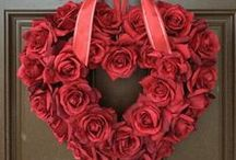 Valentine's Day Wreath Ideas / Who doesn't love to bring the spirit of love and affection into their home at Valentine's Day? These festive wreaths are perfect to display or give! http://bit.ly/valentinesdaywreaths