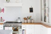 Kitchen inspiration / The kitchen is often said to be the heart of the home and it is an integral part of your home decor. Here you can see some great kitchen inspiration for the contemporary home interior with a distinctly Scandinavian influence. Minimal white kitchens are abound!