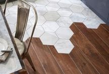 Flooring Inspiration / Unusual, unique and interesting flooring options for your home interior.