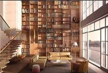 Home Library Inspiration / A collection of inspirational home library images. Line your walls with book shelves to house your growing collection of books.