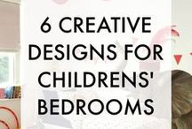 Interiors for Children / Designing a children's bedroom or playroom can be great fun. Here I have curated some of my favourite ideas for creating a fun, creative, unique and imaginative interior design scheme for a child's room.