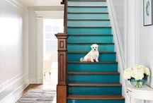 Creative Staircase Inspiration / Staircases are of course a functional element in the home, but this mean that they have to be boring! Why not create a real style statement with your stairs? Check out these great pins for some inspiration!