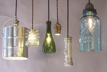 * *Bright Ideas* * / Just some awesomely creative lights made from reused/repurposed materials....
