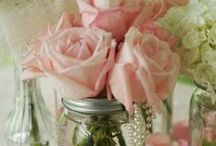 table decor and centerpieces / by Andrea Dawn