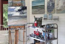 Art studio / kunstner atelier