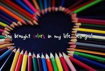Acryl~Farbe~Stifte~Kreide... / Ich liebe #Farben ~ #Pinsel ~ #Stifte ~ #Kreide ~ alles womit man malen und sich künstlerisch ausdrücken kann. Amazing #Art ~ Amazing #Photos ~ Amazing ~ #Creations #Art ~ #Kunst ~ #Foto  www.astridbrouwer.de  / by Astrid Brouwer