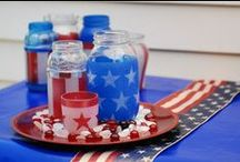 Red, White, & Blue Projects / Show off your patriotism on Memorial Day, the 4th of July or just about any other day of the week with these DIY projects from your friends at Krylon.