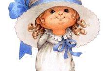 Magnólias e menininhas / Desenhos de bonequinhas