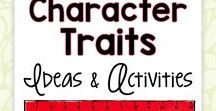 Character Traits Ideas and Activities / Fun character traits ideas, inspiration, activities, and lessons for the elementary classroom teacher.