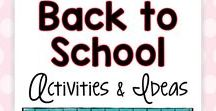 Back to School Activities and Ideas / Looking for easy back to school ideas that will kickstart your school year and ensure student success?  These back to school ideas will excite and motivate your students and pave the way for a wonderful school year!