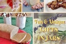 Homemade Gift Ideas / Gifts in Mason Jars. edible gifts in jars, beauty gifts in jars