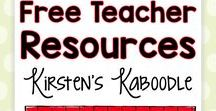 FREE Teacher Resources from Kirsten's Kaboodle / Teachers will find FREE language arts and social emotional activities, tips, and ideas for their elementary classrooms.  All pins on this board lead to FREE products!