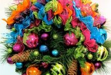 Christmas In Living Color / Christmas in Nontraditional Colors such as Turquoise, Lime, Purple, Orange, Brown, Pink... / by Sandra Norman