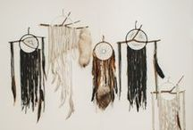 dreamcatchers / Wrap it weave it foraged treasures catch the dreams in beads and feathers