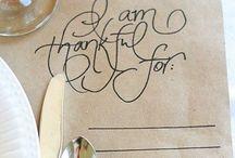Giving Thanks! / Ways to express gratitude.