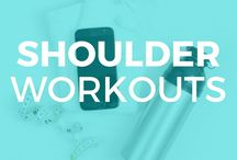 [Shoulder Workouts + Delt Exercises] / Workouts and exercises for toned shoulders. These shoulder exercises help tone your back and arms as well as your shoulder muscles.
