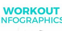 [Workout Infographics] / Find the best workout infographics on Pinterest. Tone your legs, get rid of back fat, lose arm fat, get rid of stomach fat, and more with these workouts. Back workout infographics, Leg workout infographics, Ab workout infographics, Full Body workout infographics, Cardio workout infographics, and more.